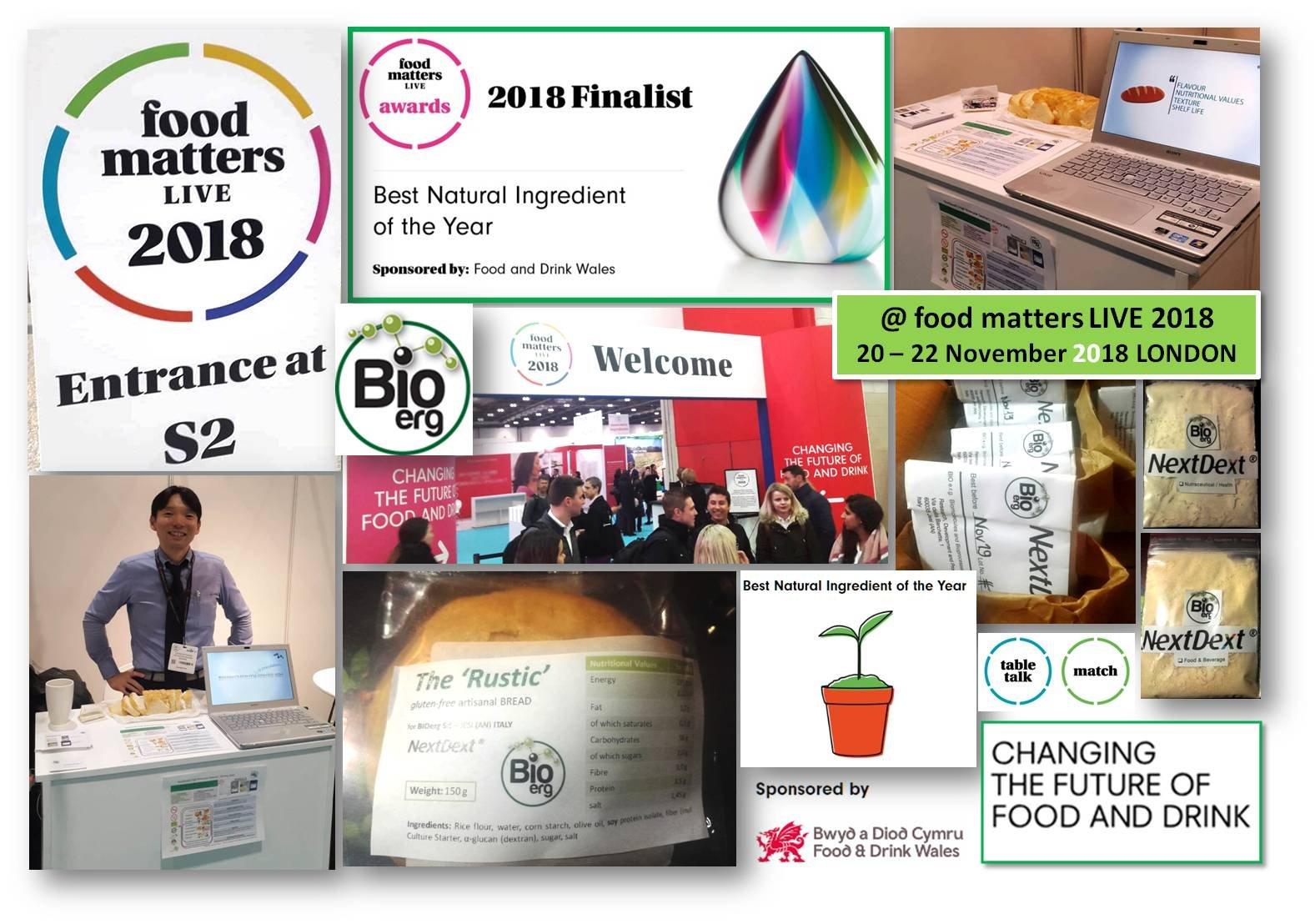Bioerg  finalista come ' miglior ingrediente naturale dell'anno '