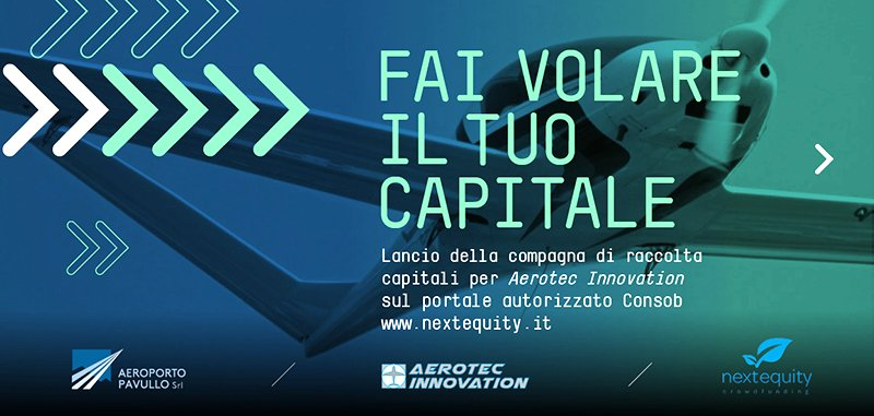 Save the date: 22/02/2018 al via la raccolta di capitali per Aerotec innovation