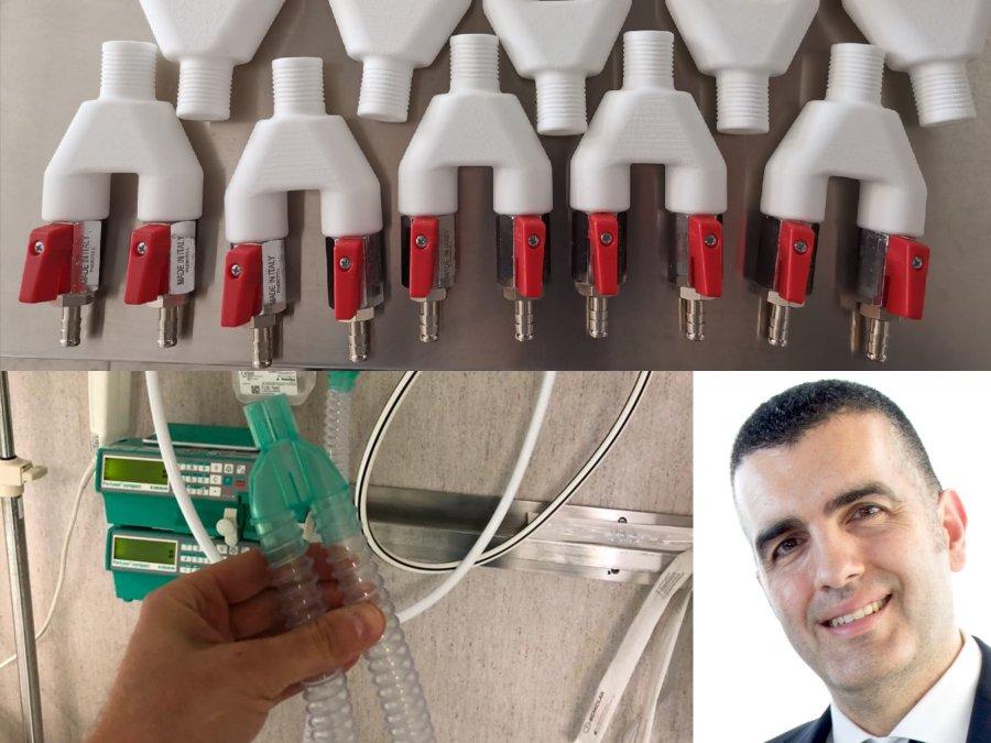 Prosilas Rapid Prototyping e l' Azienda Ospedali Riuniti Ancona insieme contro il COVID-19.
