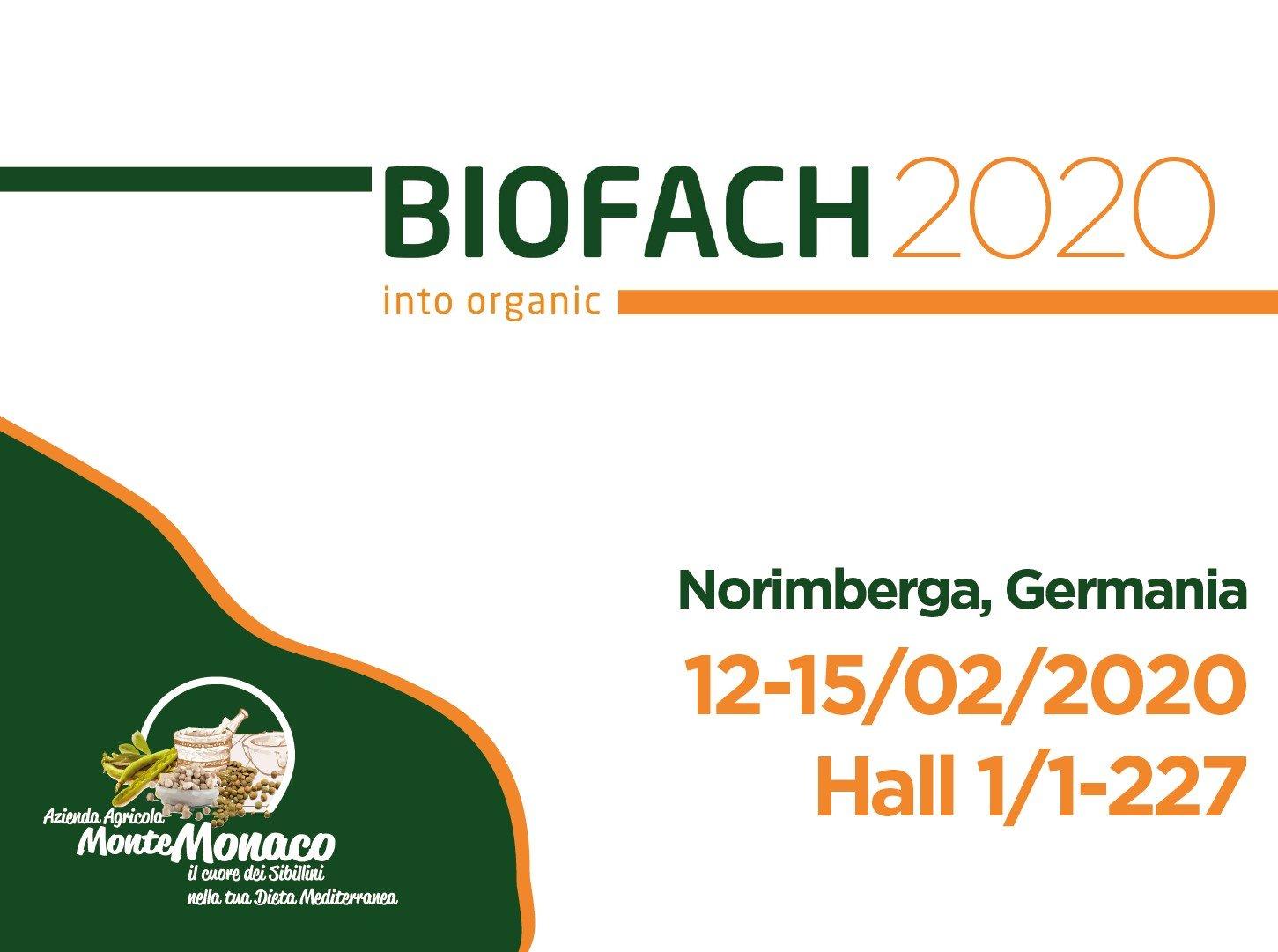 Azienda Agricola MonteMonaco presente al Biofach a Norimberga