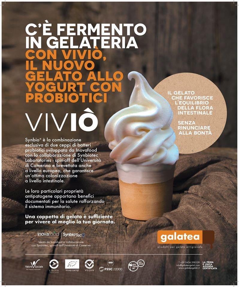 ViViO', un gelato probiotico allo yogurt che contiene 1 miliardo di micro-organismi vivi per 100 grammi di prodotto