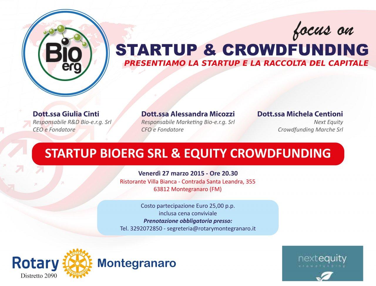Rotary Club: a cena con StartUp&Crowdfunding.